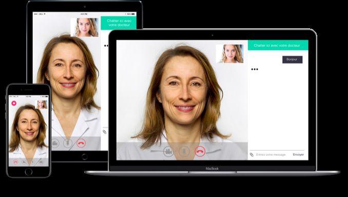 videoconsultation avec un médecin français
